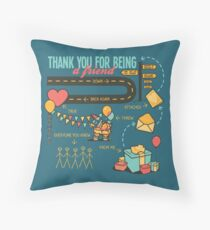 Pals and Confidants Throw Pillow
