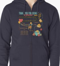 Pals and Confidants Zipped Hoodie