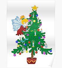 Christmas Tree Elf Poster
