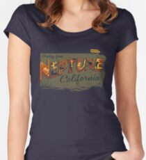 Greetings from Neptune Women's Fitted Scoop T-Shirt