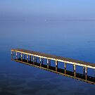 Wooden Pier Reflected in Water by Petr Svarc