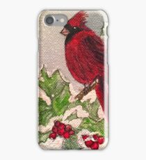 Cardinal in Winter iPhone Case/Skin