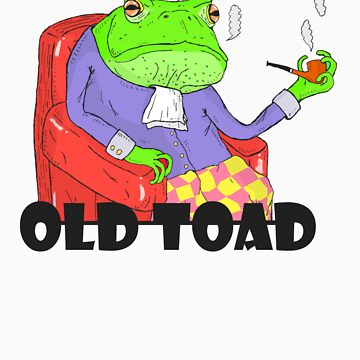 Old toad smocking by Beub