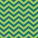 Bold Chevron Pattern 3 by Kat Massard