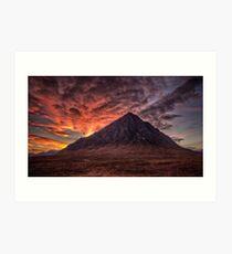 Buachaille Etive Mor sunset Art Print