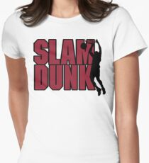 Basketball Slam Dunk Women's Fitted T-Shirt