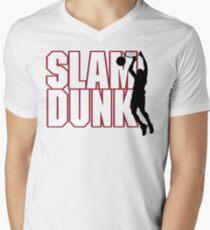 Basketball Slam Dunk Men's V-Neck T-Shirt