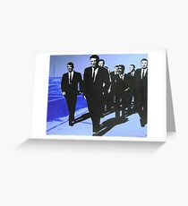 The Rat Pack - Blue Greeting Card