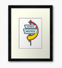 Anne's Motel campy truck stop tee  Framed Print