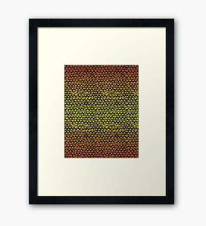 mosaic stripes  Framed Print