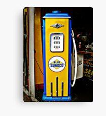 Blue Sunoco vintage gas pump Canvas Print