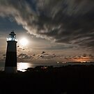 Alderney's Lighthouse Under A full Moon by NeilAlderney