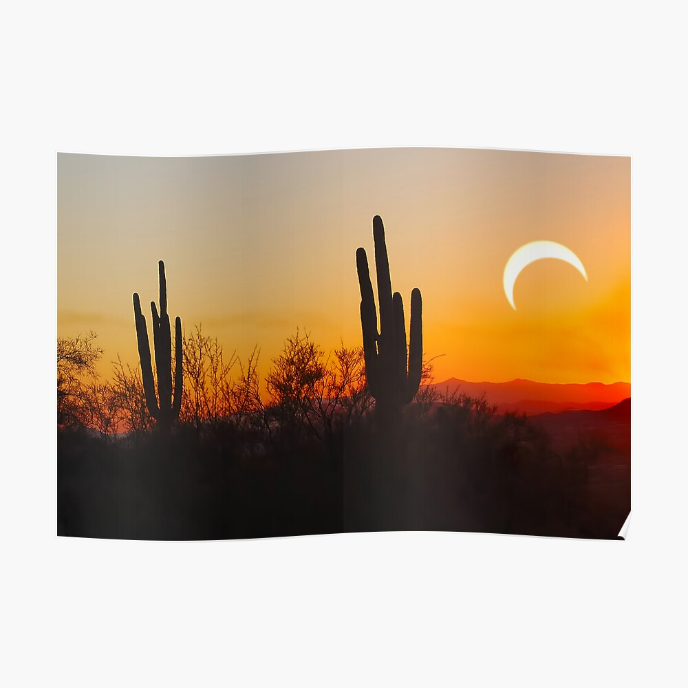 Partial Annular Eclipse from Cave Creek, Arizona 2012 - II Poster