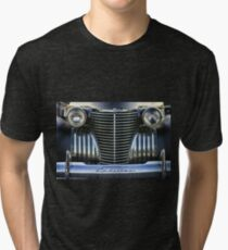 Black Cadillac Grill and Headlights Tri-blend T-Shirt
