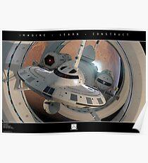 IXS Enterprise leaving Mars Poster