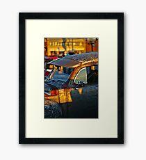 Old Plymouth Car Visor Framed Print