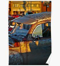Old Plymouth Car Visor Poster