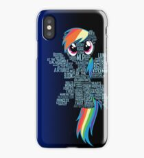 Rainbow Dash Typography iPhone Case