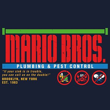 Mario Bros. Plumbing & Pest Control (colour) by wildwing64