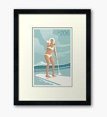 Paddleboarding Lake Washington Framed Print