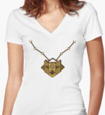 Sophia's necklace - Nur-Ab-Sal Women's Fitted V-Neck T-Shirt