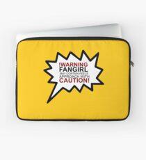 Warning fangirl Laptop Sleeve