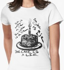 The Cake is a Lie Women's Fitted T-Shirt