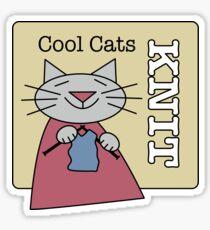 Cool Cats Knit Sticker