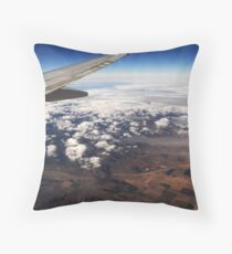 Clouds and Space Throw Pillow
