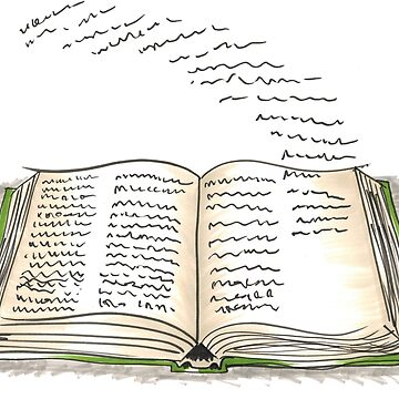Words Flying off the Pages by Gabatron3000