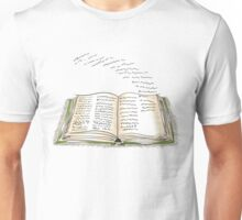 Words Flying off the Pages Unisex T-Shirt