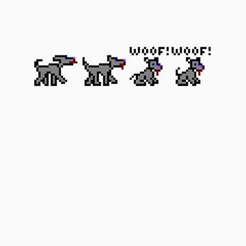 Ski Free Dog - Woof Woof TeeShirt by kalitarios