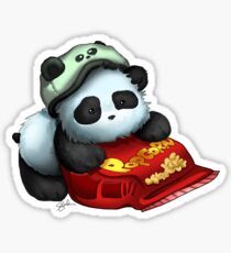 Panda Popcorn Sticker