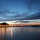 Marciana Marina by night by Christine Oakley