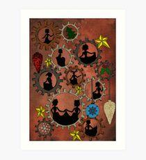 Nine Ladies Dancing Art Print