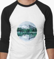 Lake Mountain Reflection Baseball ¾ Sleeve T-Shirt