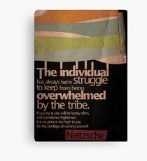 Humanity. Nietzsche. Canvas Print