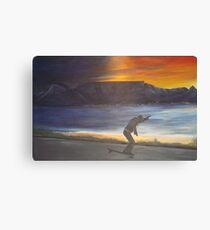 Skating at sun set Canvas Print