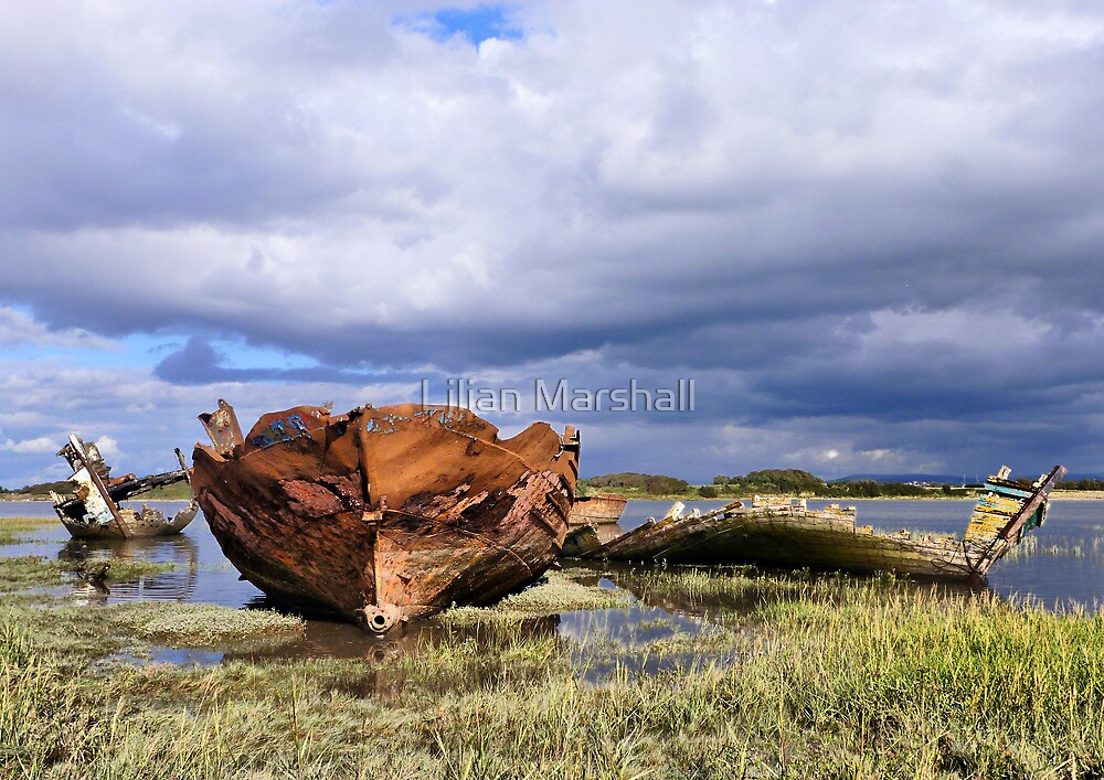 Decommissioned Trawlers by Lilian Marshall