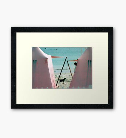 Brittany Beach Framed Print