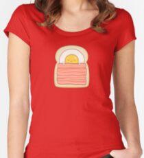 Übernachtung mit Frühstück Tailliertes Rundhals-Shirt