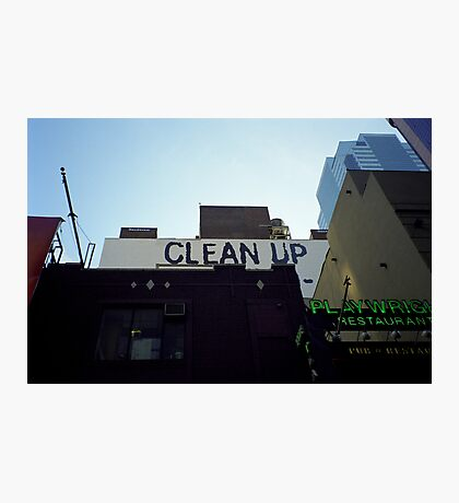 Clean Up Notice, New York Photographic Print