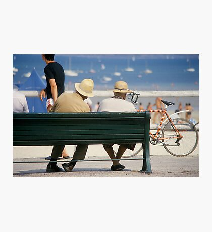 Couple at the seaside Photographic Print