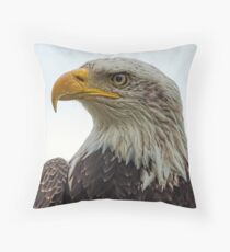 American Bald Eagle Portrait Throw Pillow