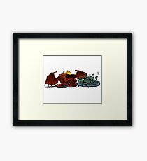 Moria Monsters Texting Framed Print