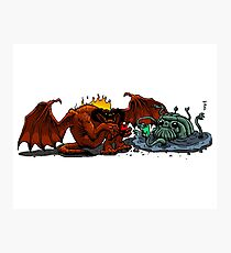 Moria Monsters Texting Photographic Print