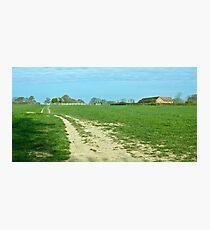 Downslink Farmstead Photographic Print