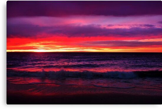 Rainbow Coloured Sunset by Amy Dee
