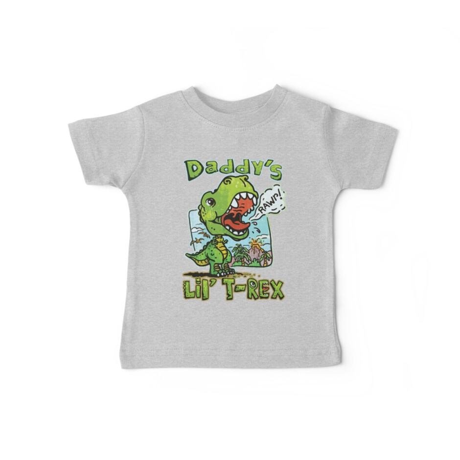 Daddy's Little T-Rex Dinosaur by MudgeStudios