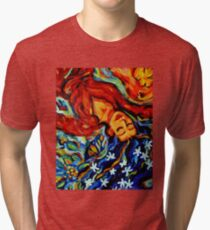 Inspiration: Sea Cucumber 3 dreaming woman angel Tri-blend T-Shirt